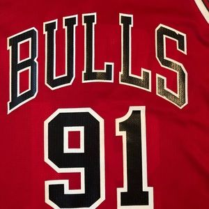 Champion Shirts - VTG Champion Chicago Bulls Rodman Jersey
